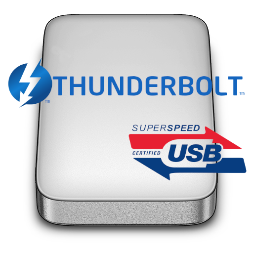 HD-PATU3 has Thunderbolt and SuperSPEED USB